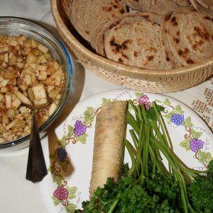 Seder foods (Image courtesy of Wikimedia user Jonathunder)