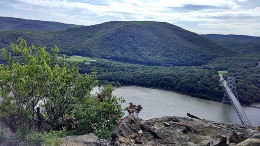 View from the top at Bear Mountain State Park