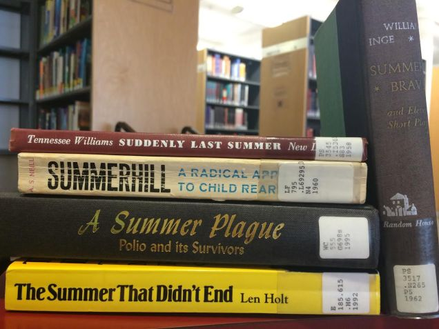 """Summer"" reading (photo by Carol Schapiro)"