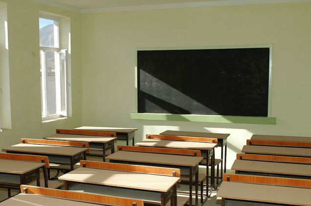 Classrooms await new and returning students! (Image via Wikimedia Commons)