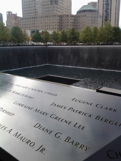 Reflecting pool at the 9/11 memorial (Photo courtesy of Annette Carr)