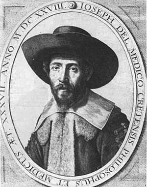 Rabbi Joseph Solomon Delmedigo (1591 –1655), philosopher, physician, author, mathematician, and music theorist
