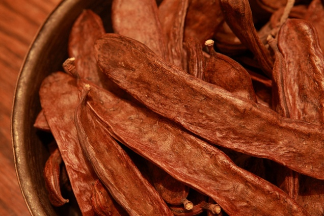 Dried carob (CC image via Flickr)