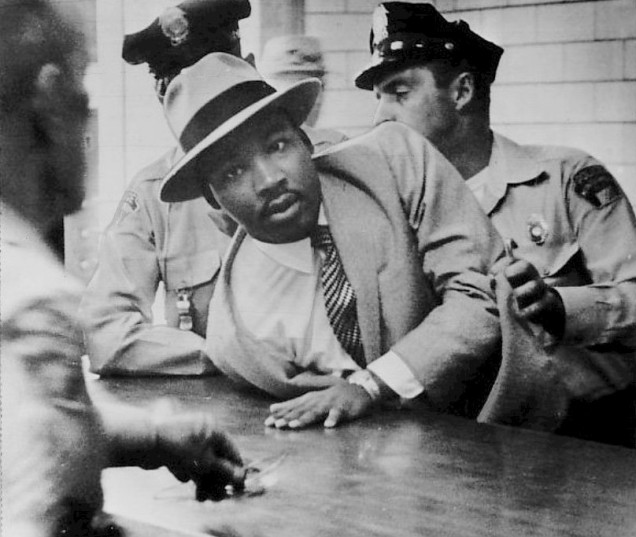 Martin Luther King, Jr. Montgomery arrest, 1958 (CC0 image via Wikimedia)