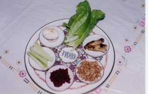 """Seder Plate"". Licensed under CC BY 2.5 via Wikimedia Commons - http://commons.wikimedia.org/wiki/File:Seder_Plate.jpg#/media/File:Seder_Plate.jpg"