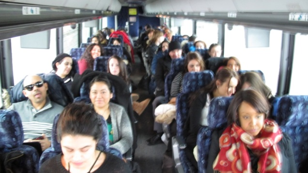 Touro College OT and OTA students en route to Albany