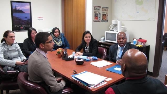 Touro College OTA students meeting with Assemblywoman Barbara Clark's staff