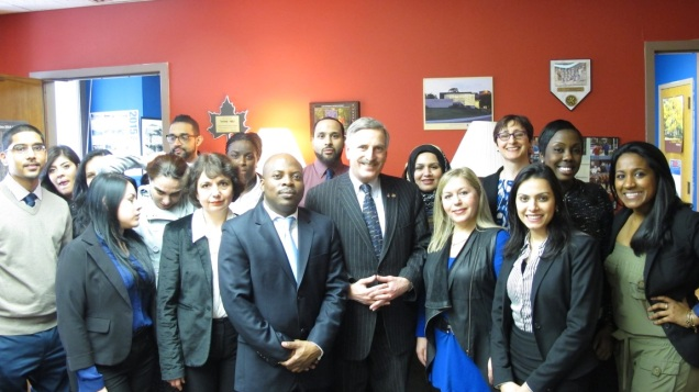 Touro College OTA students and faculty with Assemblyman Weprin, a co-sponsor of the COTA licensure bill