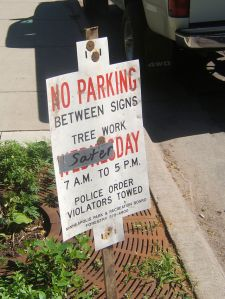 By Tony Webster from Portland, Oregon, United States (No Parking Sign with Duct Tape) [CC BY 2.0 (http://creativecommons.org/licenses/by/2.0)], via Wikimedia Commons