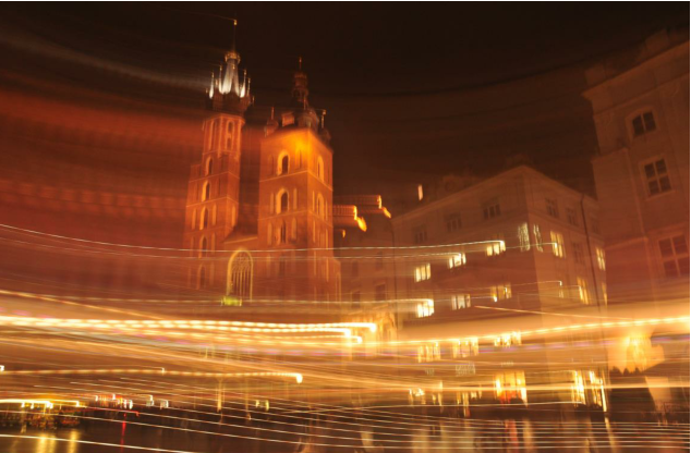 Krakow at night (photo by Muhammed Gerim)