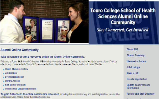 http://www1.touro.edu/shs/alumni/