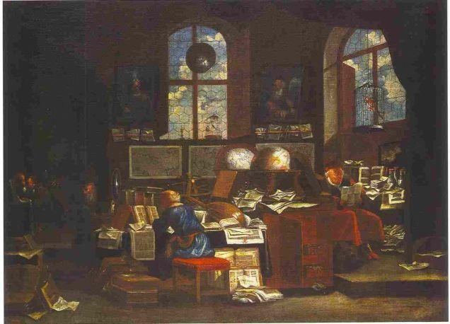 Scholar in study, 1700, by Johann Michael Bretschneider (National Museum of Wrocław)