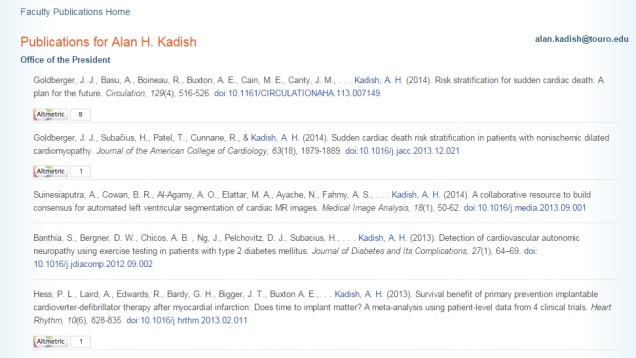 Dr. Kadish publications