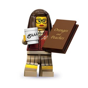 Oranges and Peaches in Popular Culture  (Lego® Librarian photo from amazon.com)
