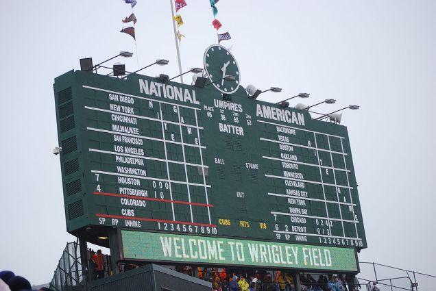 wrigley's scoreboard