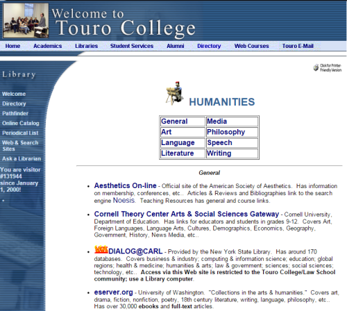 Helpful resources in the Humanities from 2001