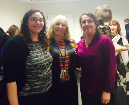The ladies behind the Touro Faculty Publications book, Carrie Levinson, Esther Greenfield, and Sara Tabaei