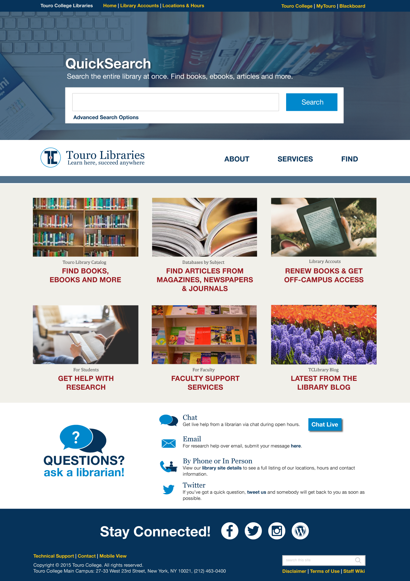 Library Home Page Design Awesome Home