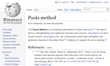 A new Wikipedia entry, courtesy of the Touro PT students