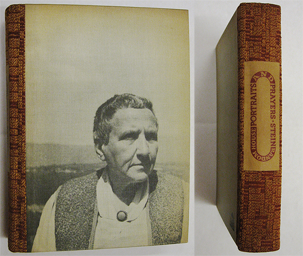 Gertrude Stein. Portraits and Prayers, 1934. (photo via Columbia University)