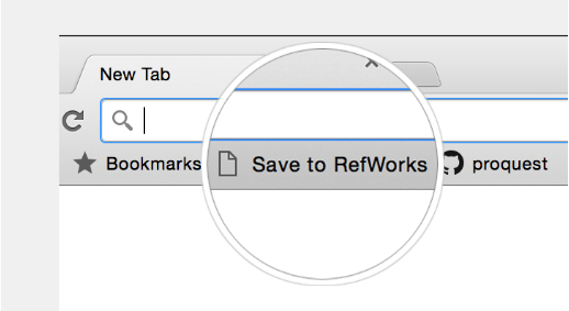 Save to RefWorks from the web