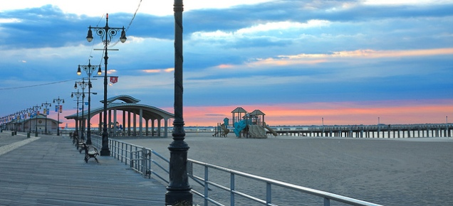 Sunset on the boardwalk