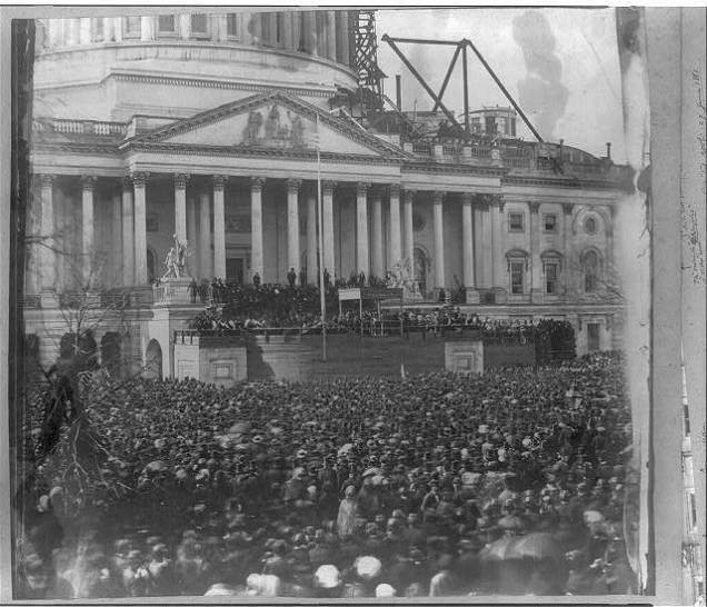 President Lincoln's first Inauguration in 1861 (via LoC)