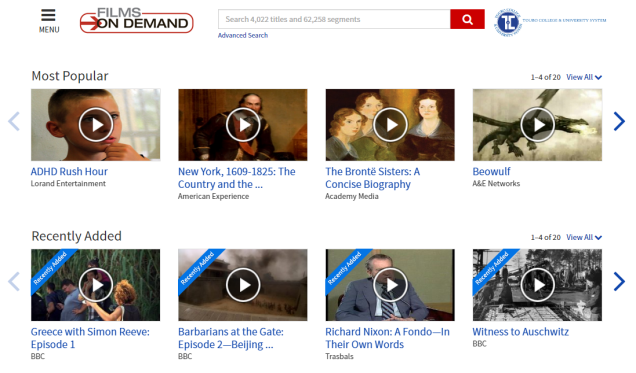 There are over 3500 titles available in our Films on Demand collection