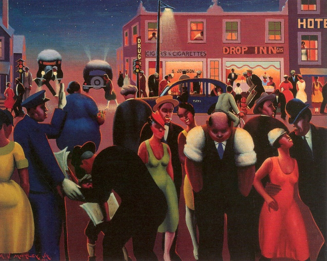 Harlem Renaissance artist Archibald J. Motley Jr.'s Black Belt, 1934