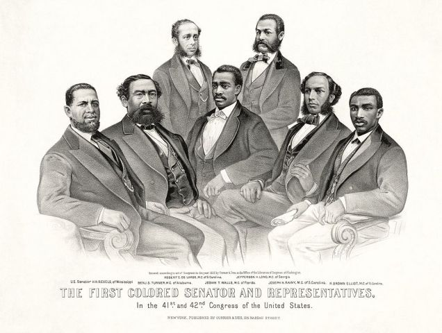 First African-American congressmen, 1871 (source)