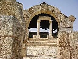 Entrance to Susiya synagogue