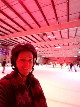 Person skating in a rink