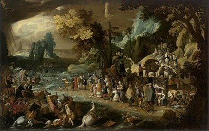Sebastiaen Vrancx - Crossing of the Red Sea