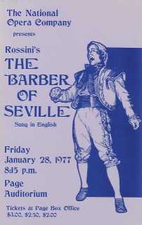 Barber of Seville performance poster