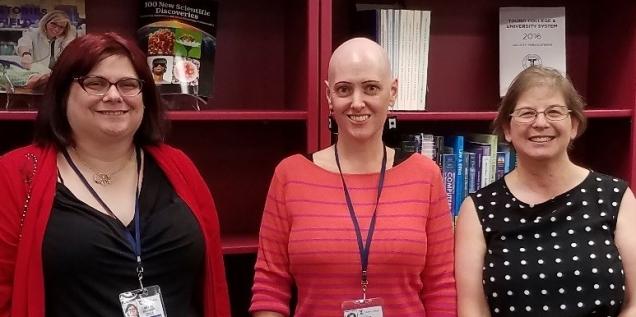 Librarians posing