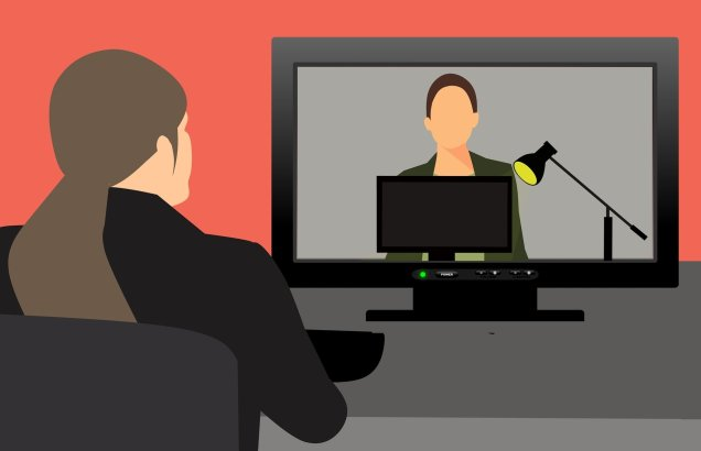 image of two women on a video conference call