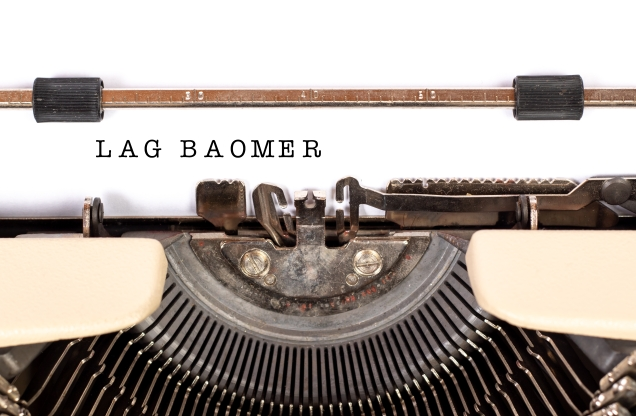 typewrite with lag baomer typed out