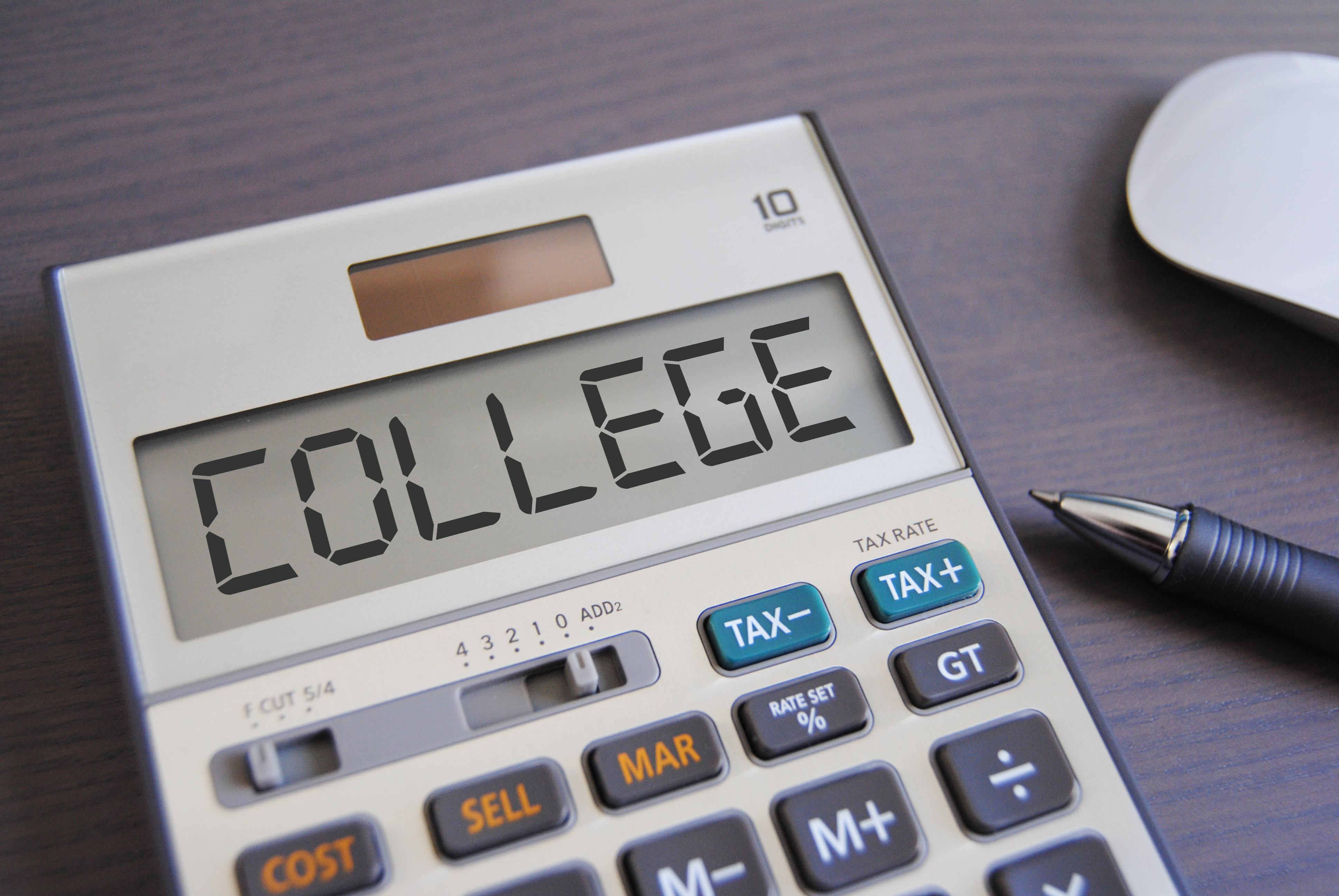 calculator with college spelled out