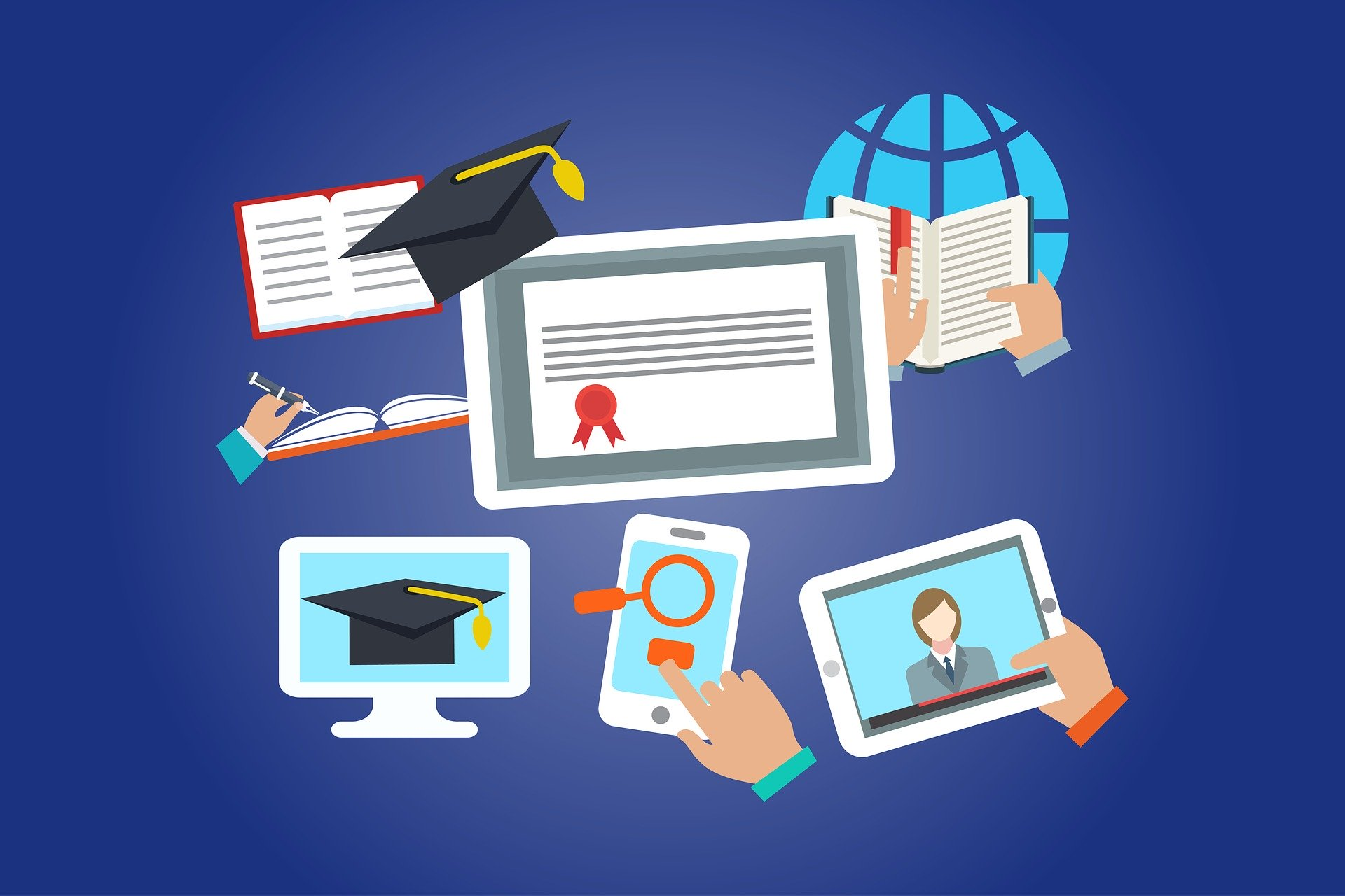 graphics related to online education