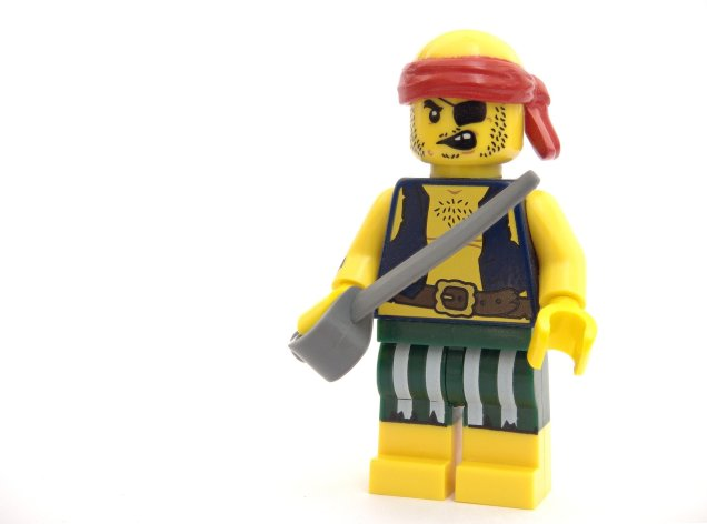 a lego pirate figurine